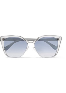 Prada Cat-eye Acetate And Silver-tone Mirrored Sunglasses