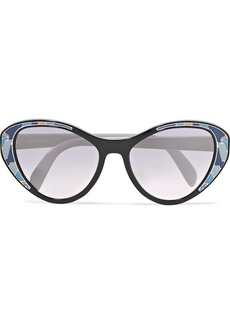 Prada Cat-eye Acetate Mirrored Sunglasses