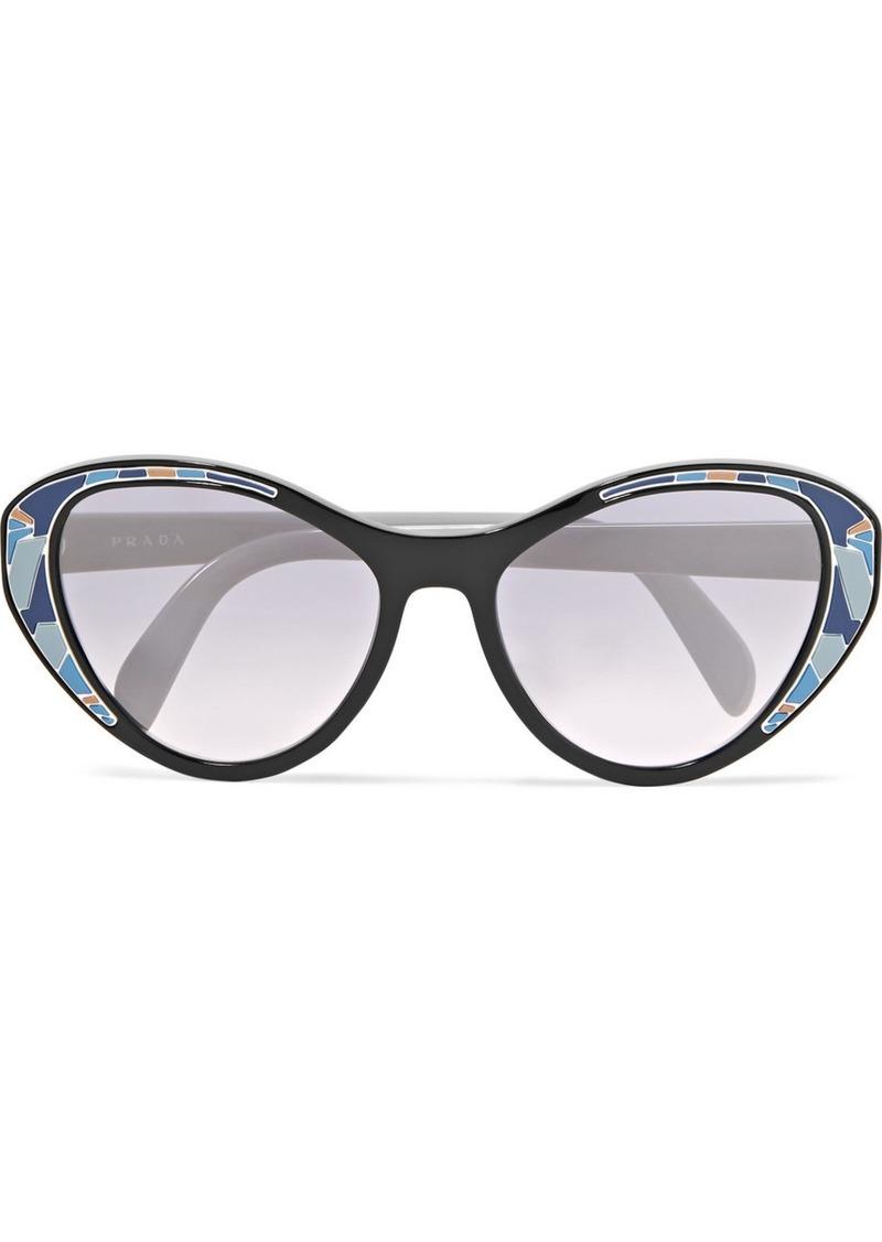 a214902c01 Prada Cat-eye Acetate Mirrored Sunglasses Now  124.00