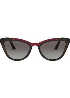 Prada cat eye shaped sunglasses