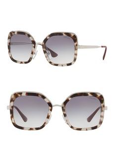 Prada Catwalk 54mm Square Sunglasses