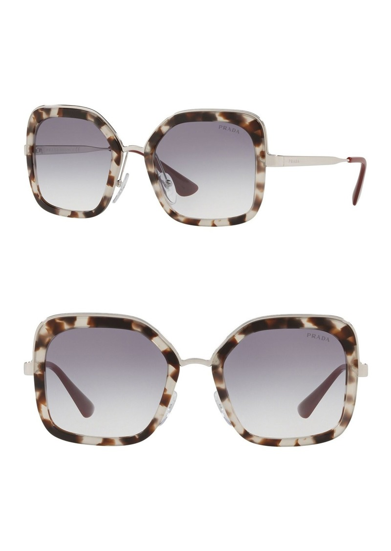 Prada Catwalk 54mm Square Sunglasses
