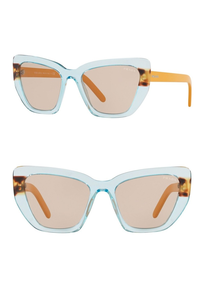 Prada Catwalk 55mm Cat Eye Sunglasses