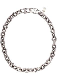 Prada chain necklace with logo