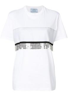 Prada chainmail trim T-shirt