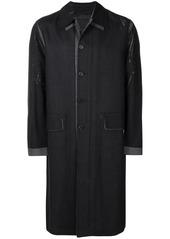 Prada check print single-breasted coat