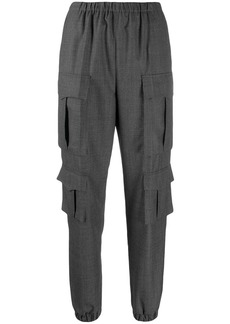 Prada check tapered trousers