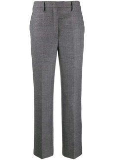 Prada check wide-leg trousers