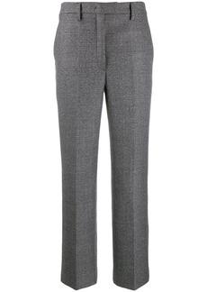 Prada check wide-leg trousers