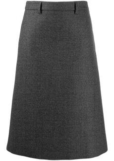 Prada checked A-line skirt