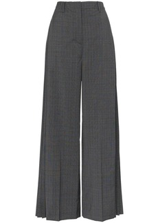 Prada checked pleat-detail tailored trousers