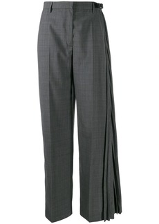 Prada checked pleated detail tailored trousers