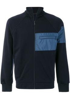 Prada chest pocket zipped sweatshirt