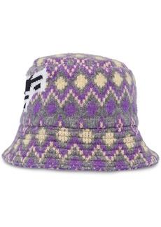 Prada chevron motif bucket hat