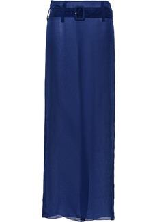 Prada chiffon sheer long skirt
