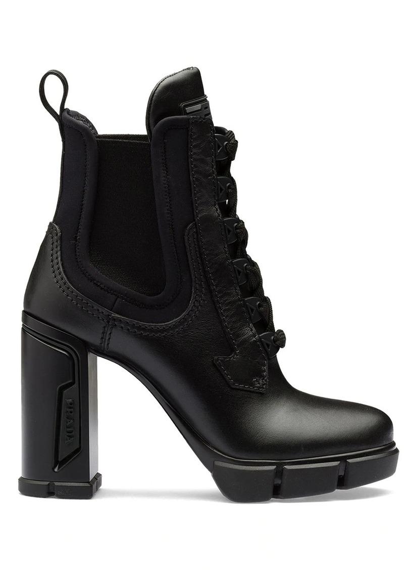 Prada chunky heeled ankle boots
