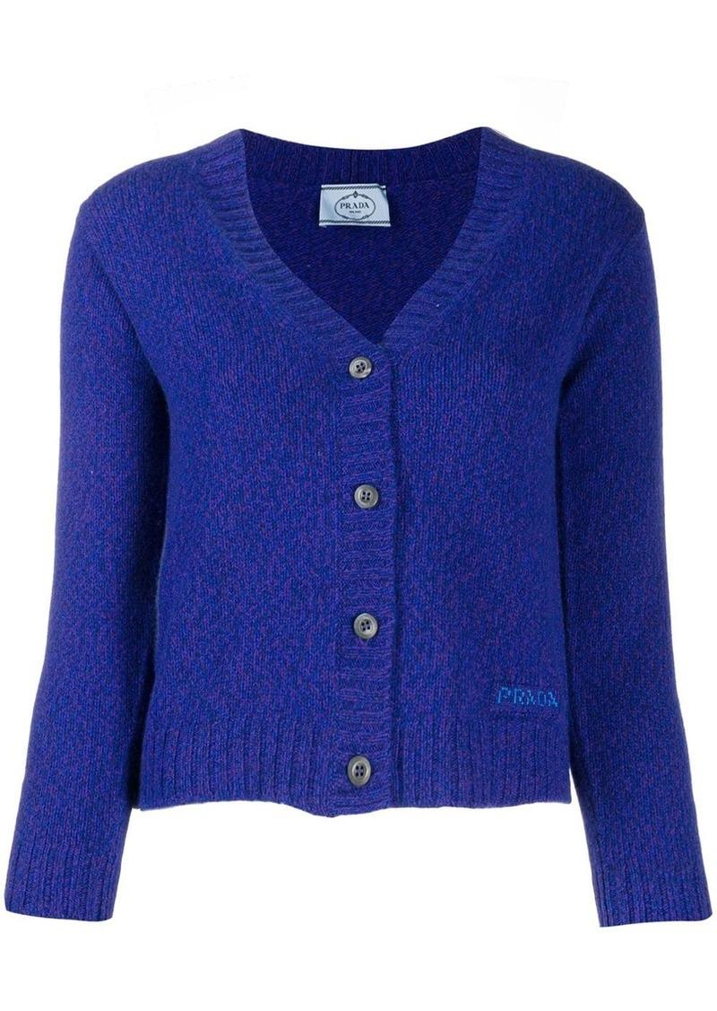 Prada classic knitted cardigan
