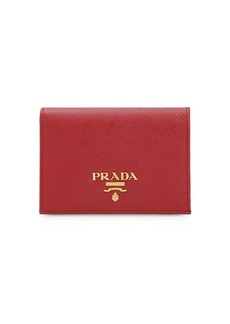 Prada Compact Saffiano Leather Wallet
