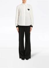 Prada contrasting cuffs poplin shirt