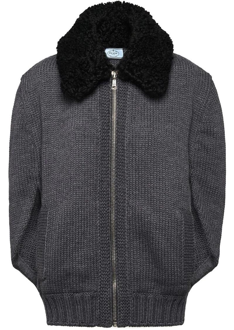 Prada Cordonnet yarn cardigan