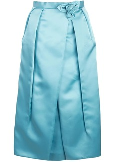 Prada corsage detail inverted pleat skirt