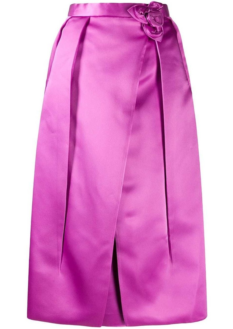 Prada corsage detail inverted pleat skirt