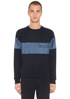 Prada Cotton Sweatshirt W/ Nylon Inserts