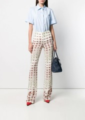 Prada crepe de chine trousers