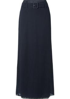 Prada Crinkled Silk-chiffon Maxi Skirt