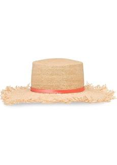 Prada Crocheted raffia hat