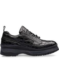 Prada crocodile leather sneakers