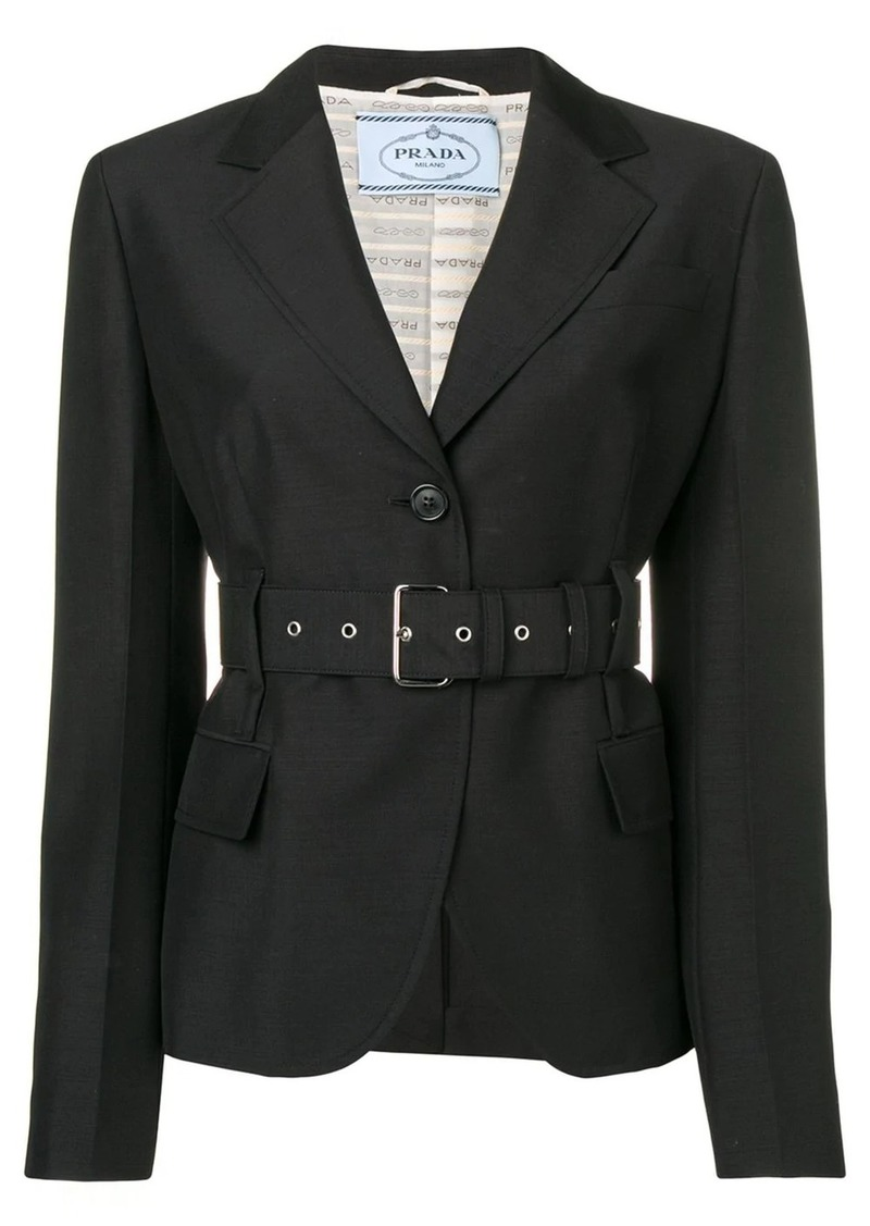 Prada cropped belted jacket
