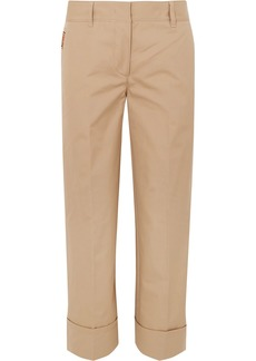 Prada Cropped Cotton Straight-leg Pants
