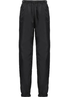 Prada cropped gathered track trousers