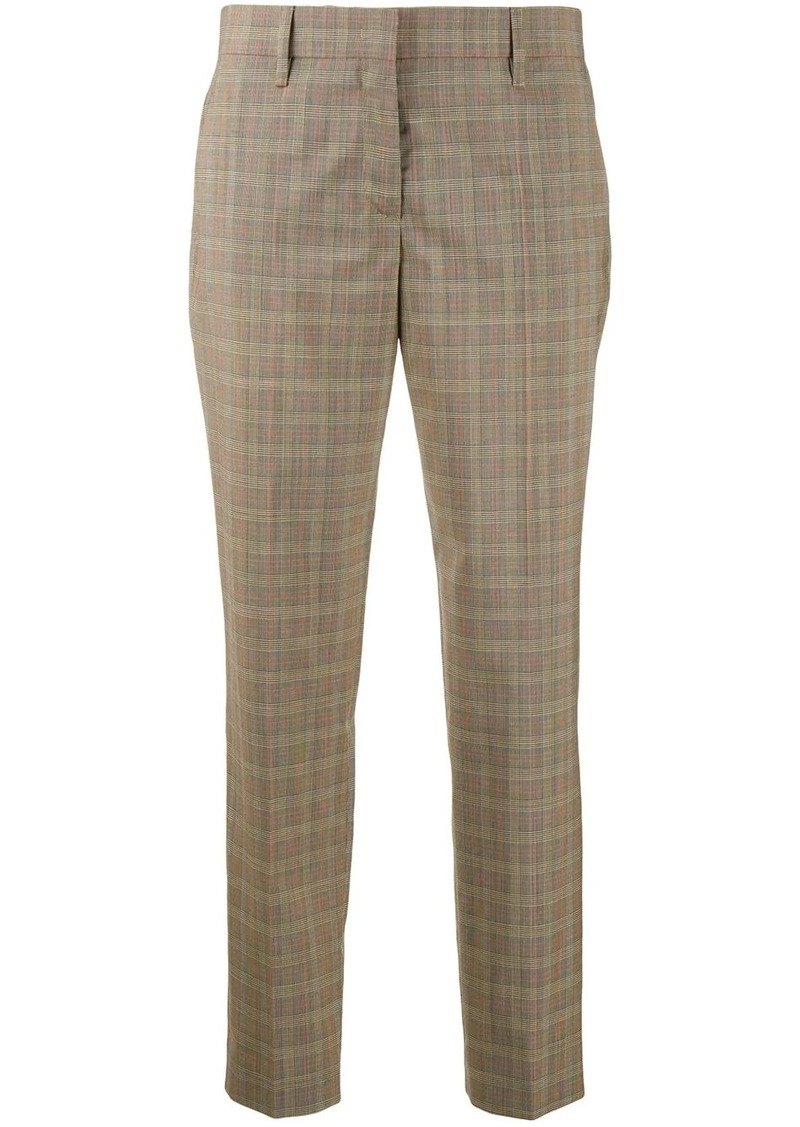 Prada cropped plaid trousers