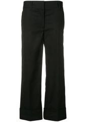 Prada cropped poplin trousers