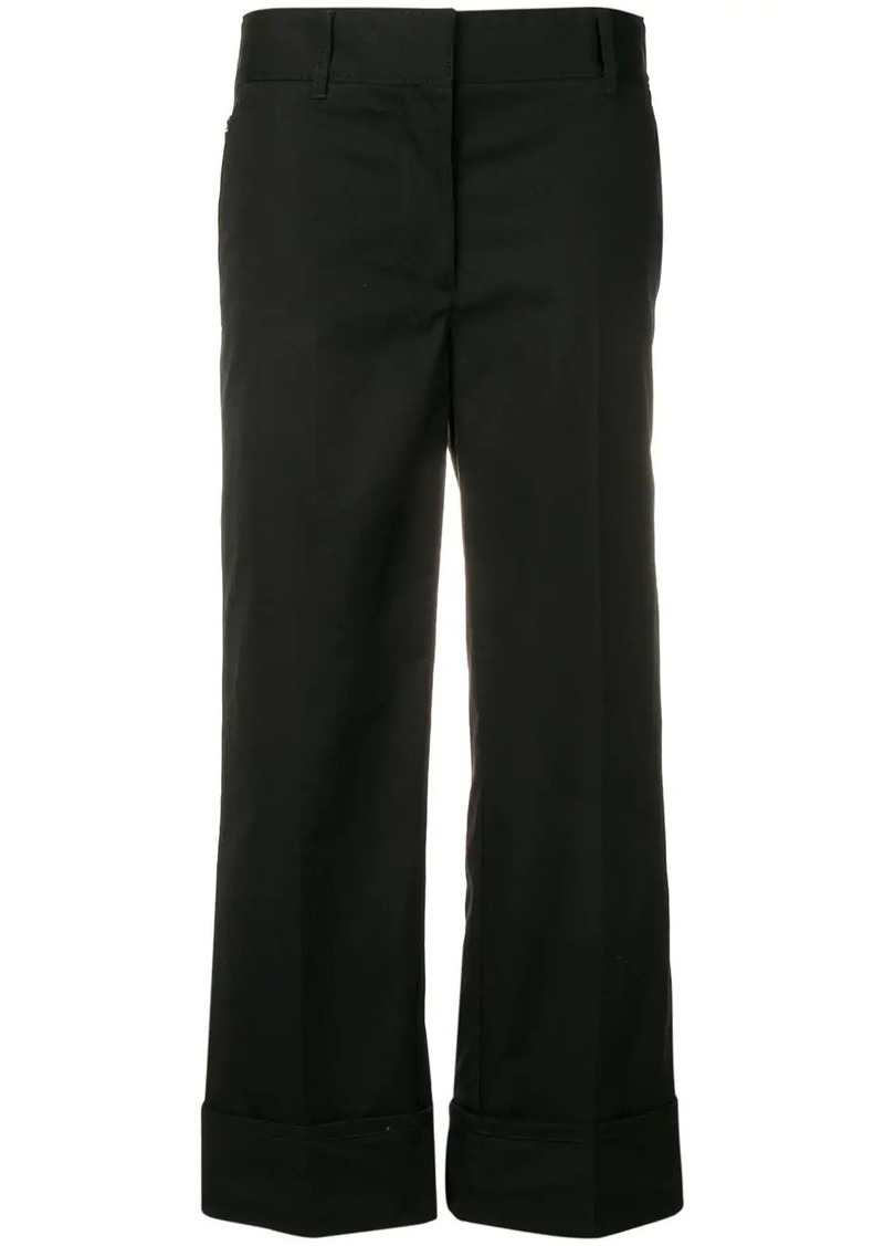 Prada cropped poplin trousers