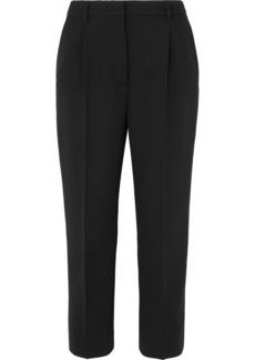 Prada Cropped Stretch-wool Straight-leg Pants