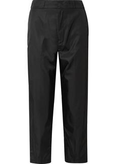 Prada Cropped Taffeta Straight-leg Pants