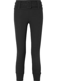 Prada Cropped Tech-jersey Straight-leg Pants