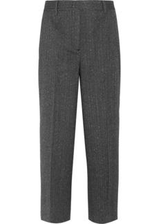 Prada Cropped Wool-blend Mouline Straight-leg Pants