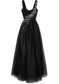 Prada Crystal-embellished Silk And Tulle Gown