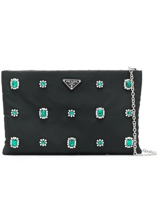 Prada crystal flower clutch bag