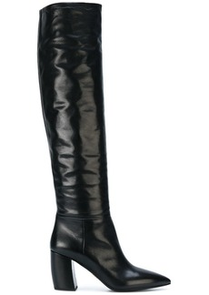 Prada curved heel boots