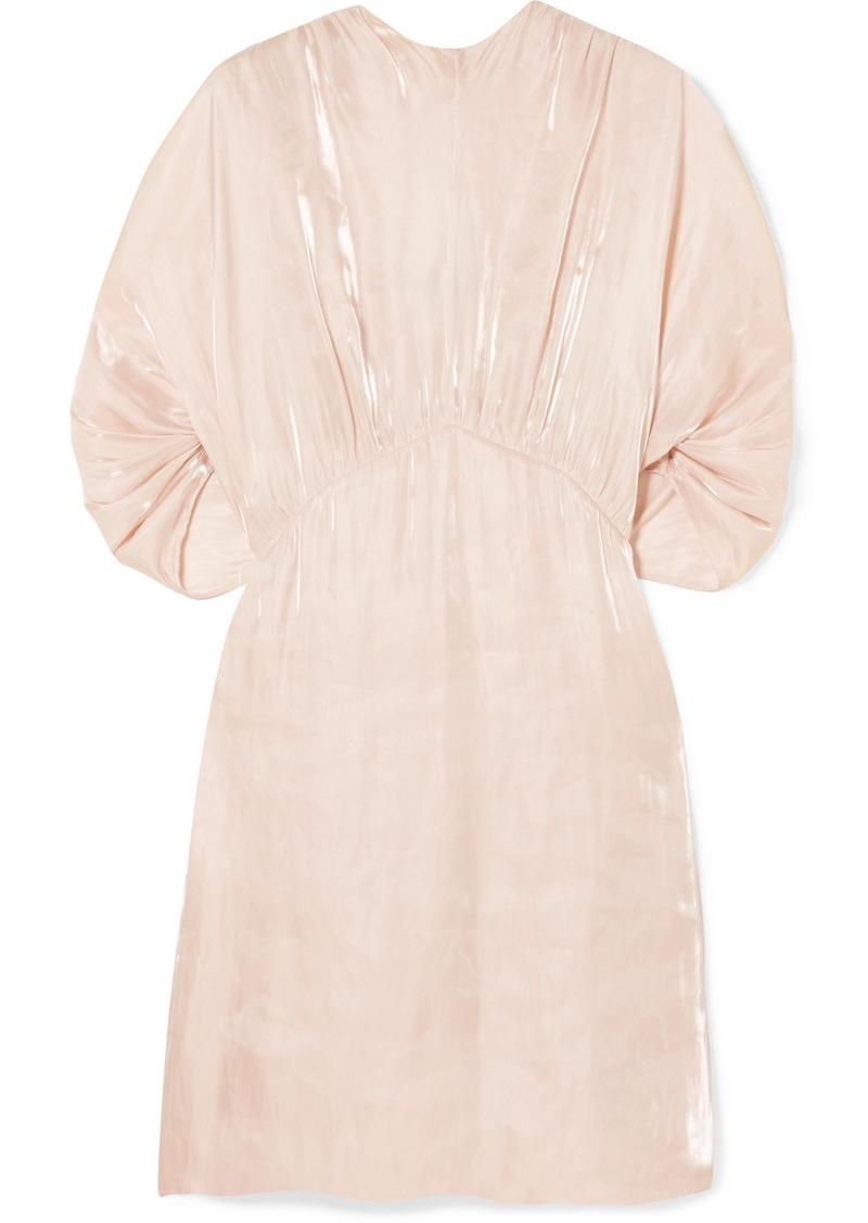 Prada Cutout Charmeuse Mini Dress