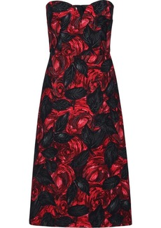 Prada Dark Rose print Cady dress