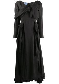 Prada deconstructed midi dress