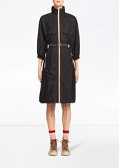 Prada detachable hood midi raincoat