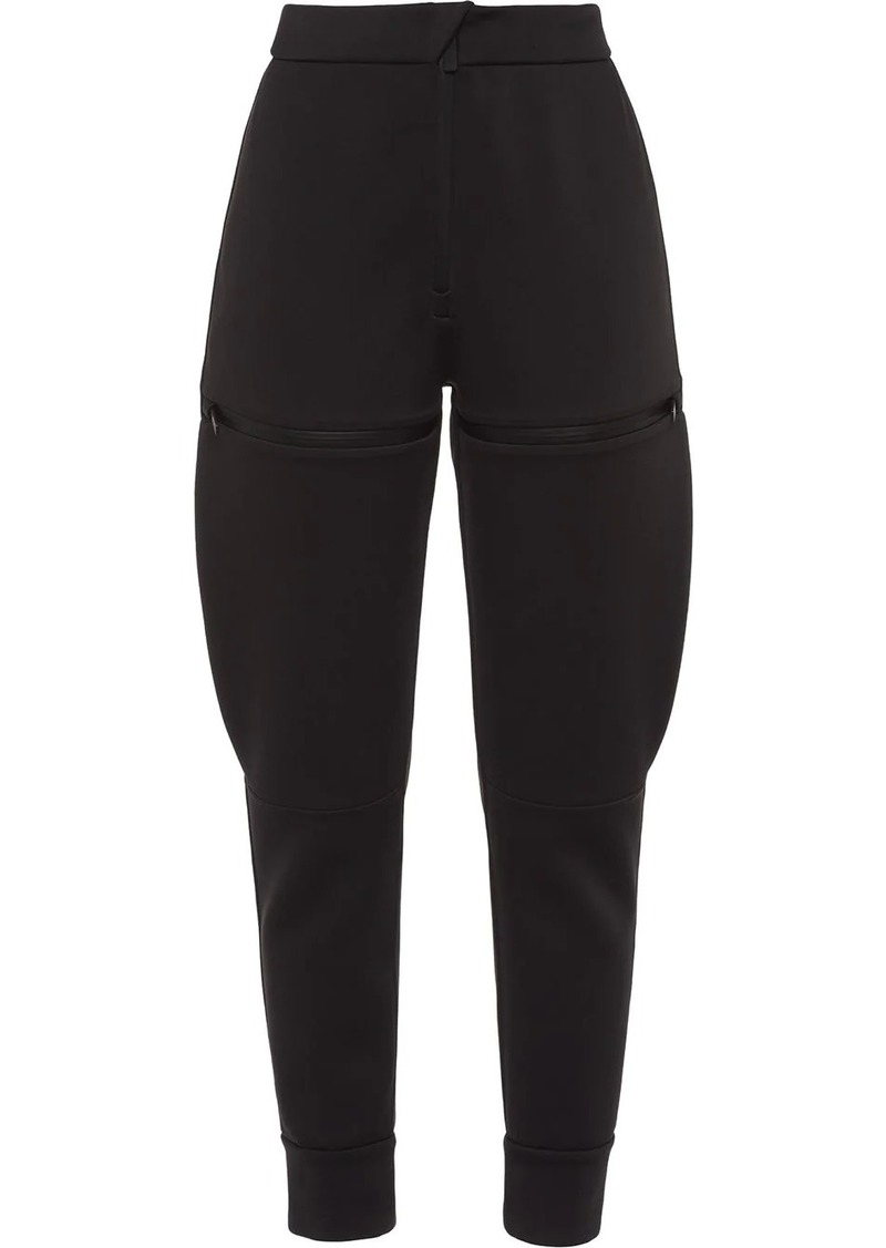 Prada Linea Rossa double technical jersey trousers