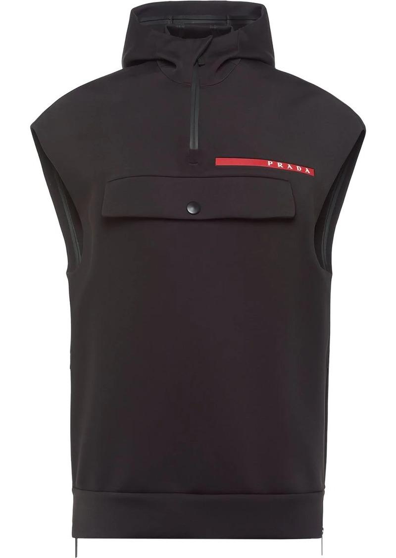 Prada Linea Rossa double technical jersey vest